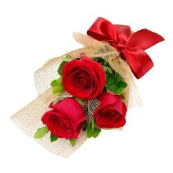 Buquê com 3 rosas