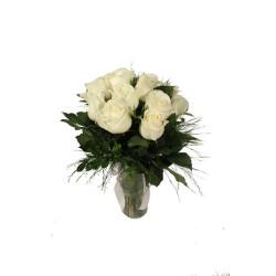 12 Rosas Brancas / vermalhas