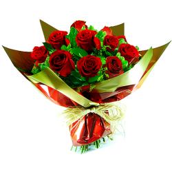 Buquê  de rosas vermelhas importada EU TE AMO