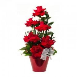 Arranjo com 6 rosas importadas