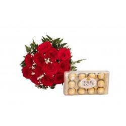 Rosa com chocolate