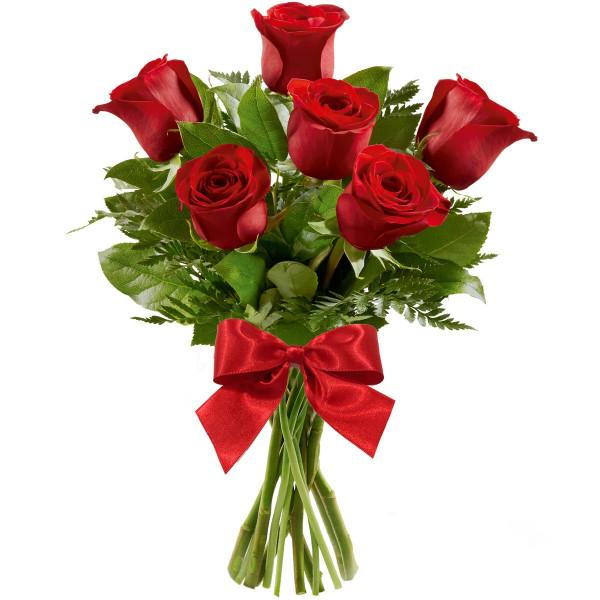 Buque de rosas Tradicional com 6 unidades