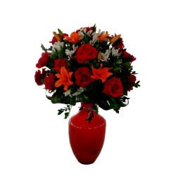 Vaso de Rosas Vermelhas para decoração